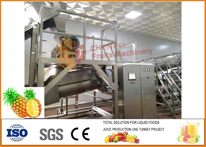 304 Stainless Steel Concentrate Pineapple Processing Equipment 20T/H Capacity